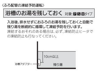 出典:三菱エコキュート 取扱説明書 P48 浴槽のお湯を残しておく