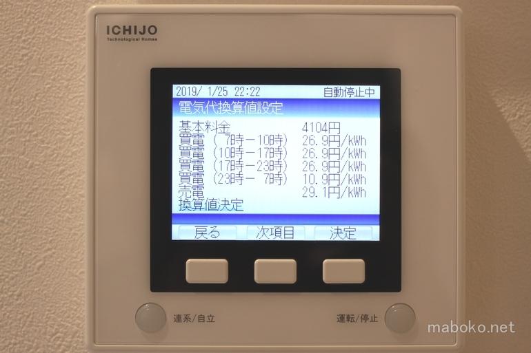 太陽光モニター 単価設定