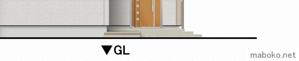 玄関ポーチGL