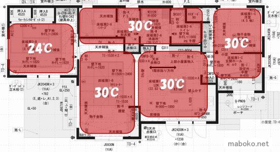 一条工務店 床暖房 設定温度
