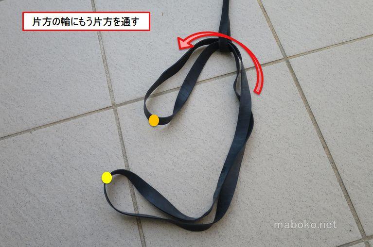 ゴム連結方法