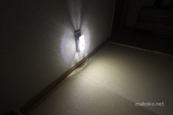 ニトリ LEDセンサーライト 点灯