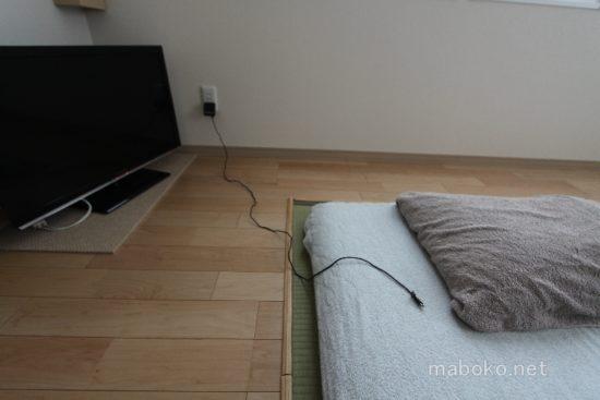マグネットコンセント 寝室